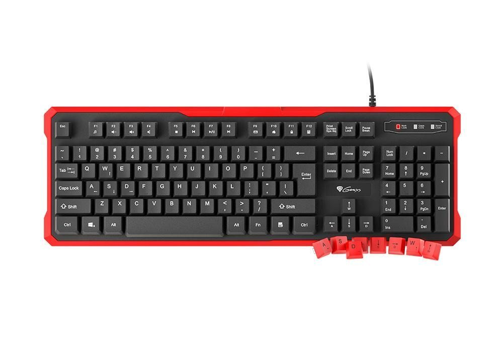 геймърска клавиатура Gaming Keyboard RHOD 110 RED - NKG-0939