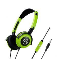 Слушалки Symphony headphones with mic Black & green AM2005/BKG