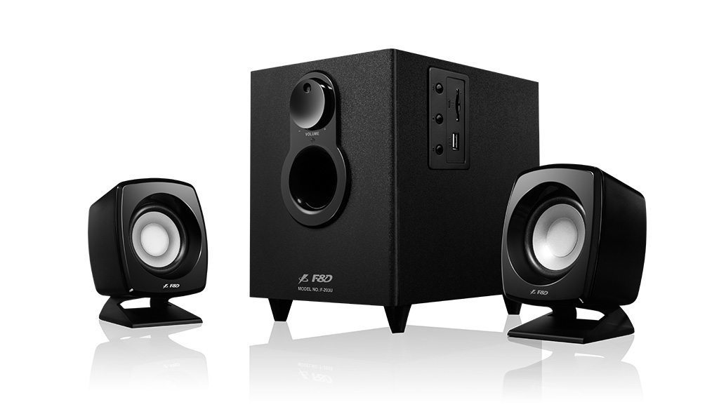 Speakers 2.1 - F203U - 11W RMS - USB/SD MP3 Playback