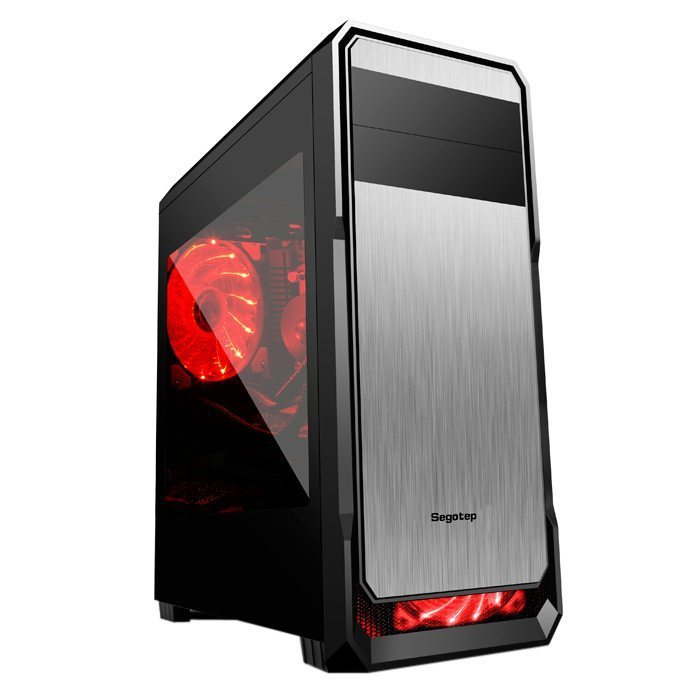 Segotep Кутия Case ATX WIND-BK - USB3.0/2x120mm fans