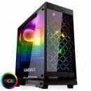 геймърска кутия за компютър Case ATX - Fully Tempered Glass - Polaris Black RGB