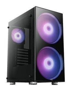 кутия за компютър Case ATX - Python aRGB - 2 x 200mm ARGB fans/Tempered Glass - ACCM-PB15033.11