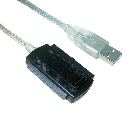 VCom Кабел адаптер USB to IDE+SATA - CU813-0.8m
