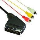 Видео кабел Scart M input / 3 x RCA M output - CV703-1.5m