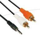 Аудио Кабел 3.5mm Stereo M / 2x RCA M - CV212-1.5m