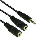 Аудио Кабел 3.5mm Stereo M / 2x 3.5mm Stereo F - CV203-0.2m
