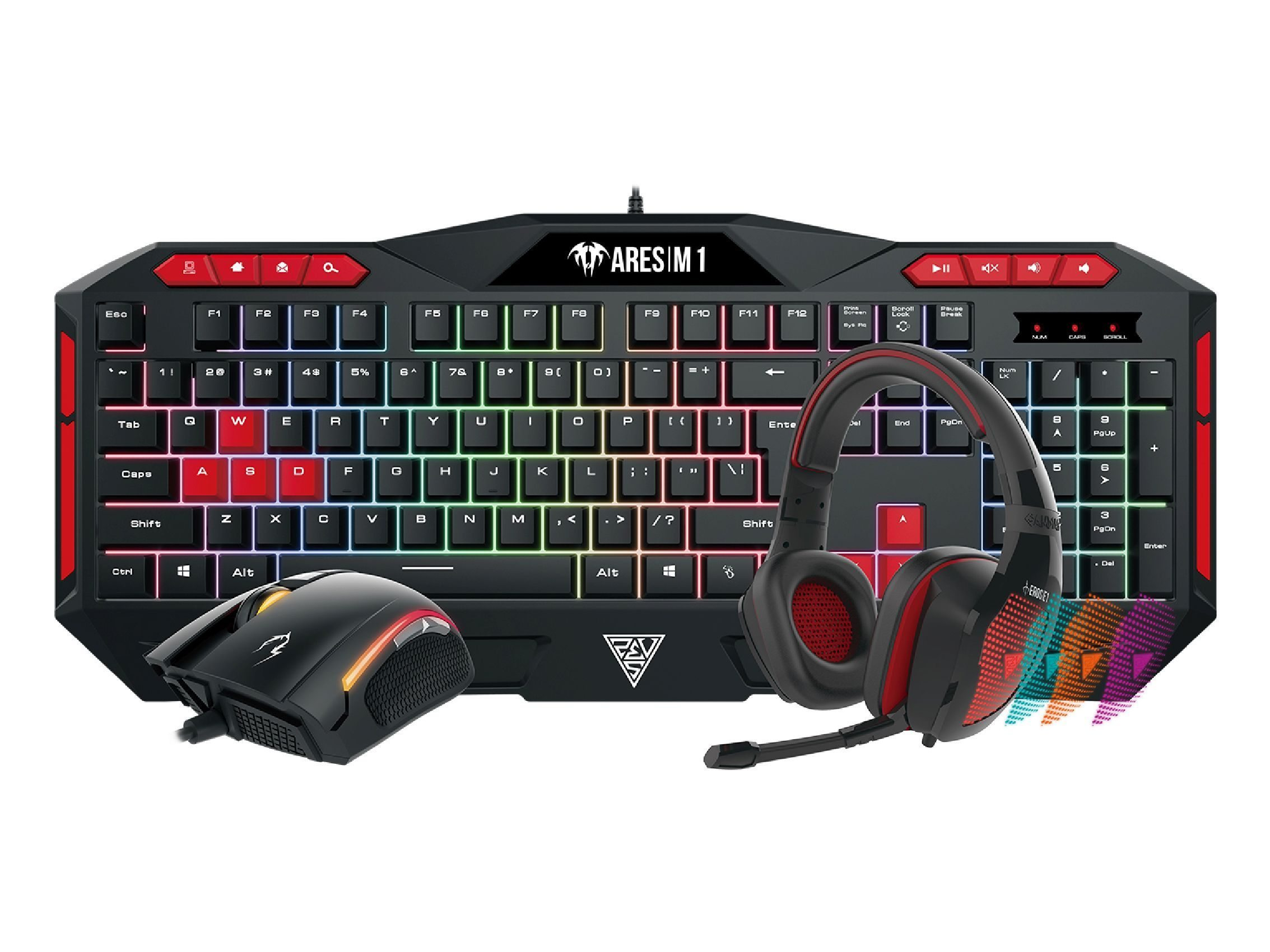 геймърски комплект Gaming COMBO - POSEIDON M1 COMBO - Keyboard + Mouse + Headphones