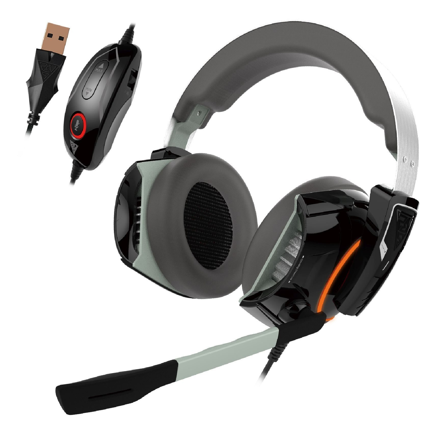 геймърски слушалки Gaming Heaphones - HEPHAESTUS P1 RGB Virtual 7.1