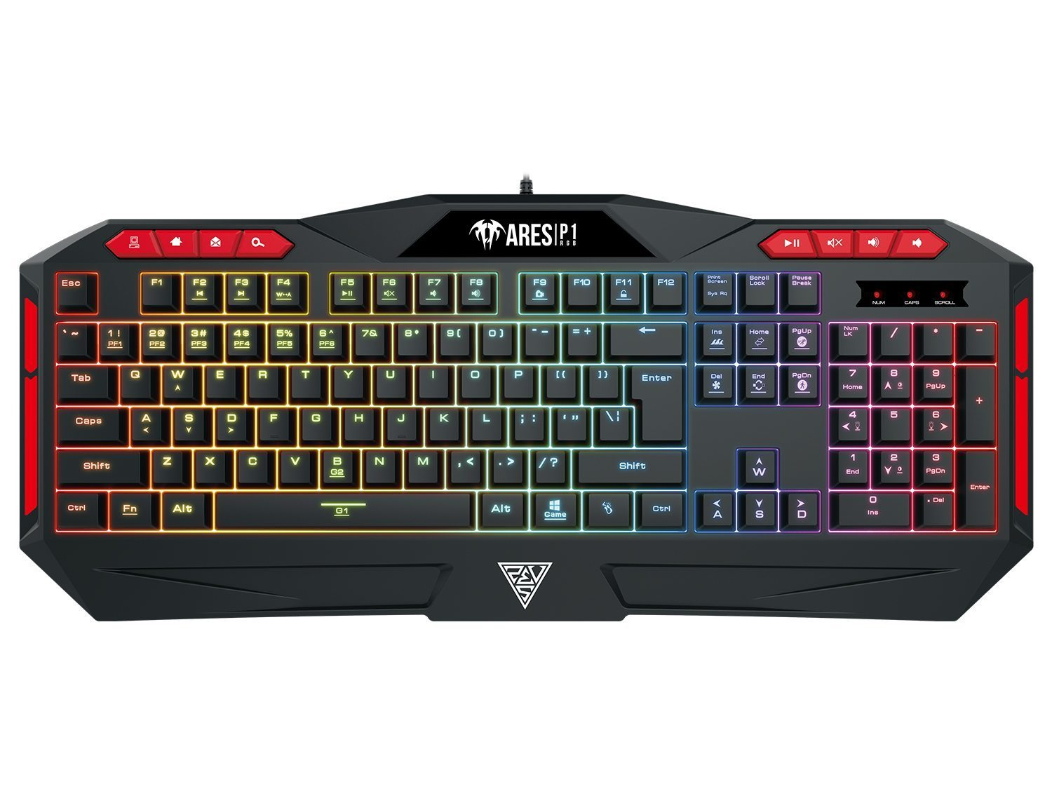 геймърска клавиатура Gaming Keyboard 112 keys - ARES P1 RGB