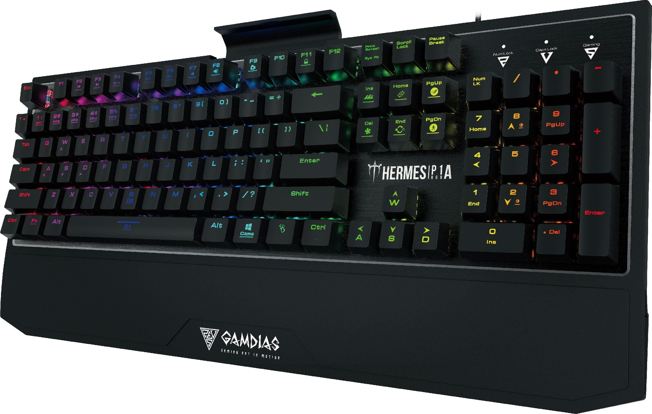 геймърска клавиатура Gaming Keyboard Mechanical 104 keys - HERMES P1A RGB