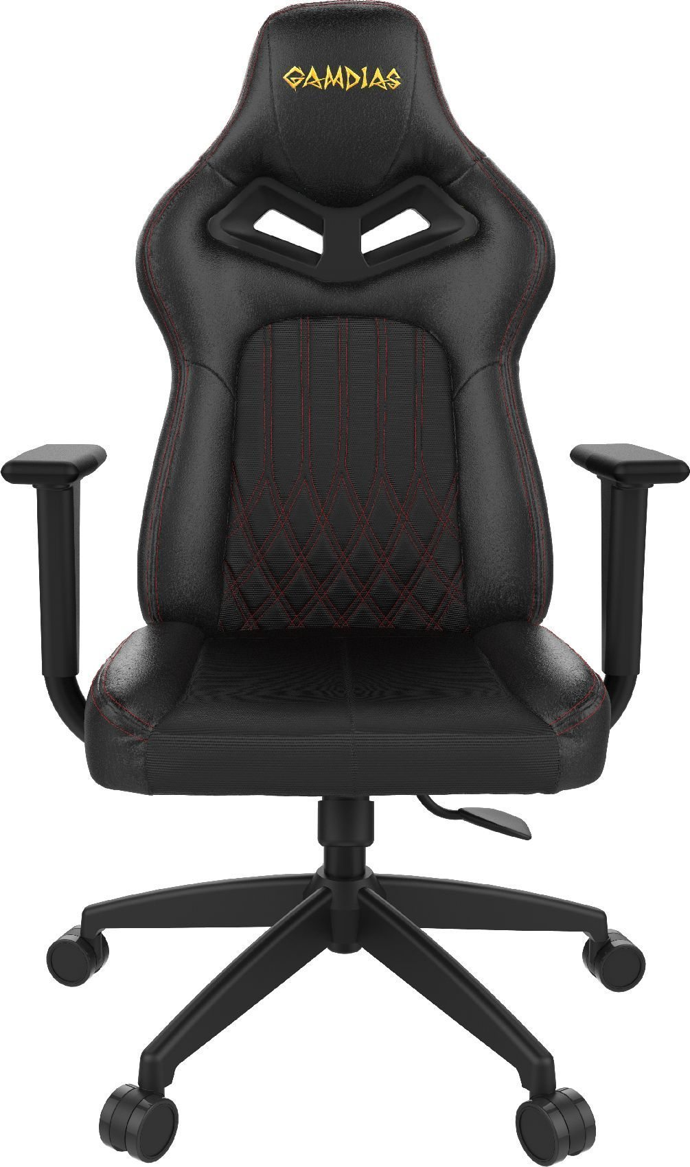 геймърски стол Gaming Chair - ACHILLES E3-L RGB Black/Red stich