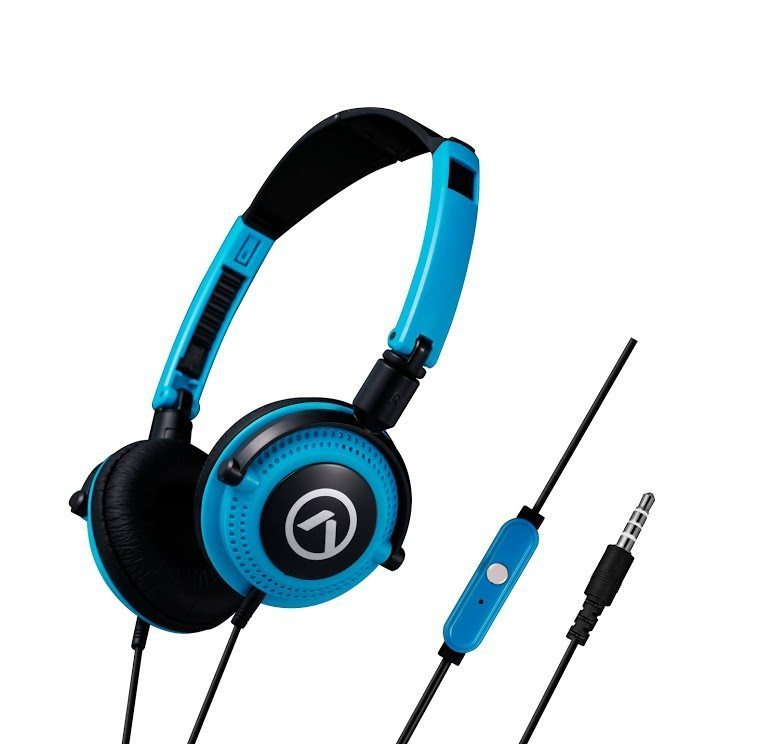 Слушалки Symphony headphones with mic Blue & black AM2005/BBK
