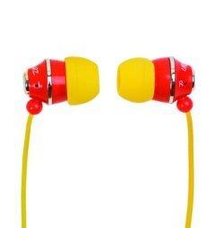 STUD-RY EARPHONE - Yellow/Red