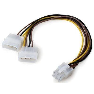 VCom Адаптер Adapter 2xMolex to 6pin PCI-E VGA - CE313-0.15m