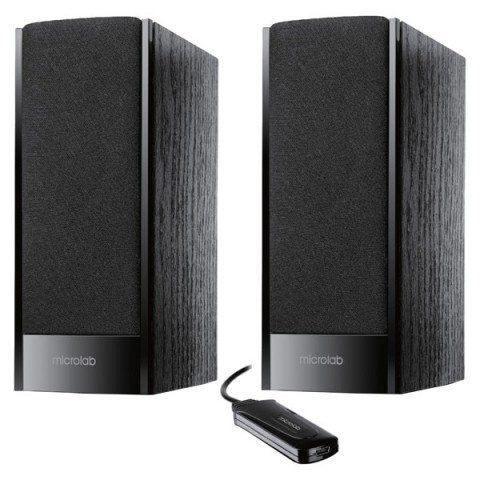 Speakers 2.0 B-56 black - cable remote