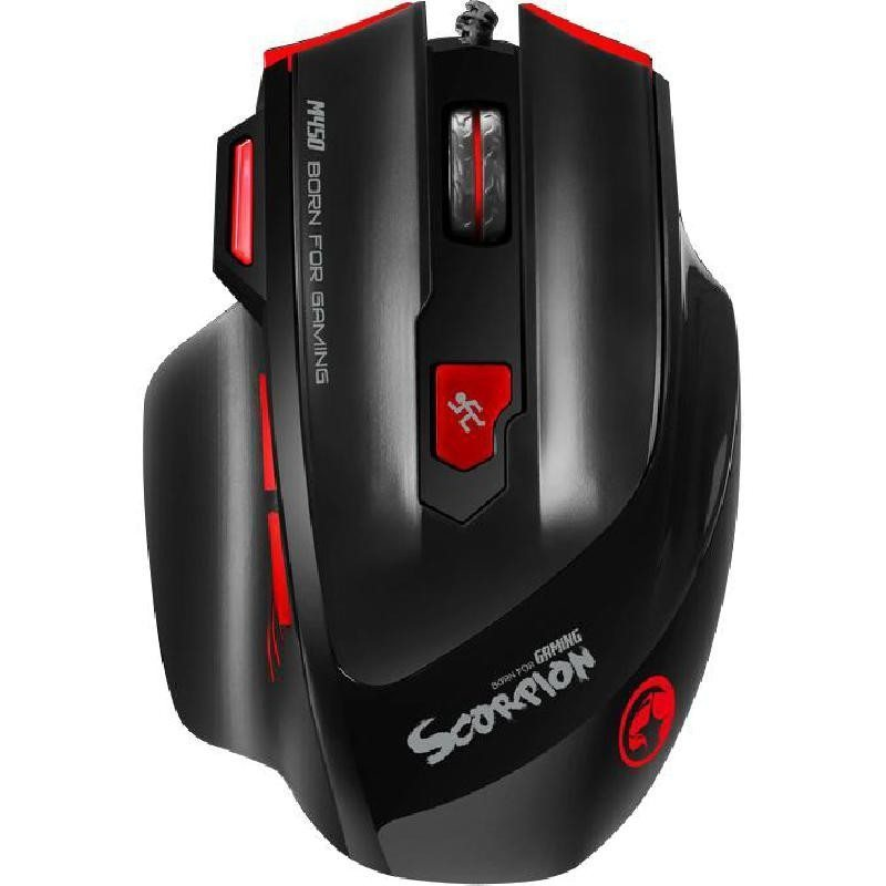 Marvo геймърска мишка Gaming Mouse M450 - 6400dpi, Weight tunning, Programmable, 7 colors backlight - MARVO-M450