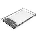 прозрачна външна кутия за диск Storage - Case - 2.5 inch USB 3.0 transparent - 2139U3-CR