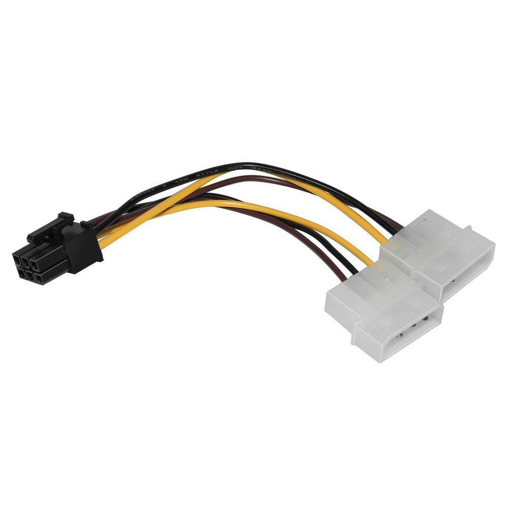 Makki Адаптер Adapter 2xMolex to 6pin PCI-E VGA - MAKKI-CE313-0.15m