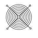 предпазител за вентилатор Fan Grill Metal - 120mm Black