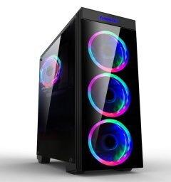 Case ATX Gaming - MAKKI-8872-RGB - 4x120mm RGB double ring fans