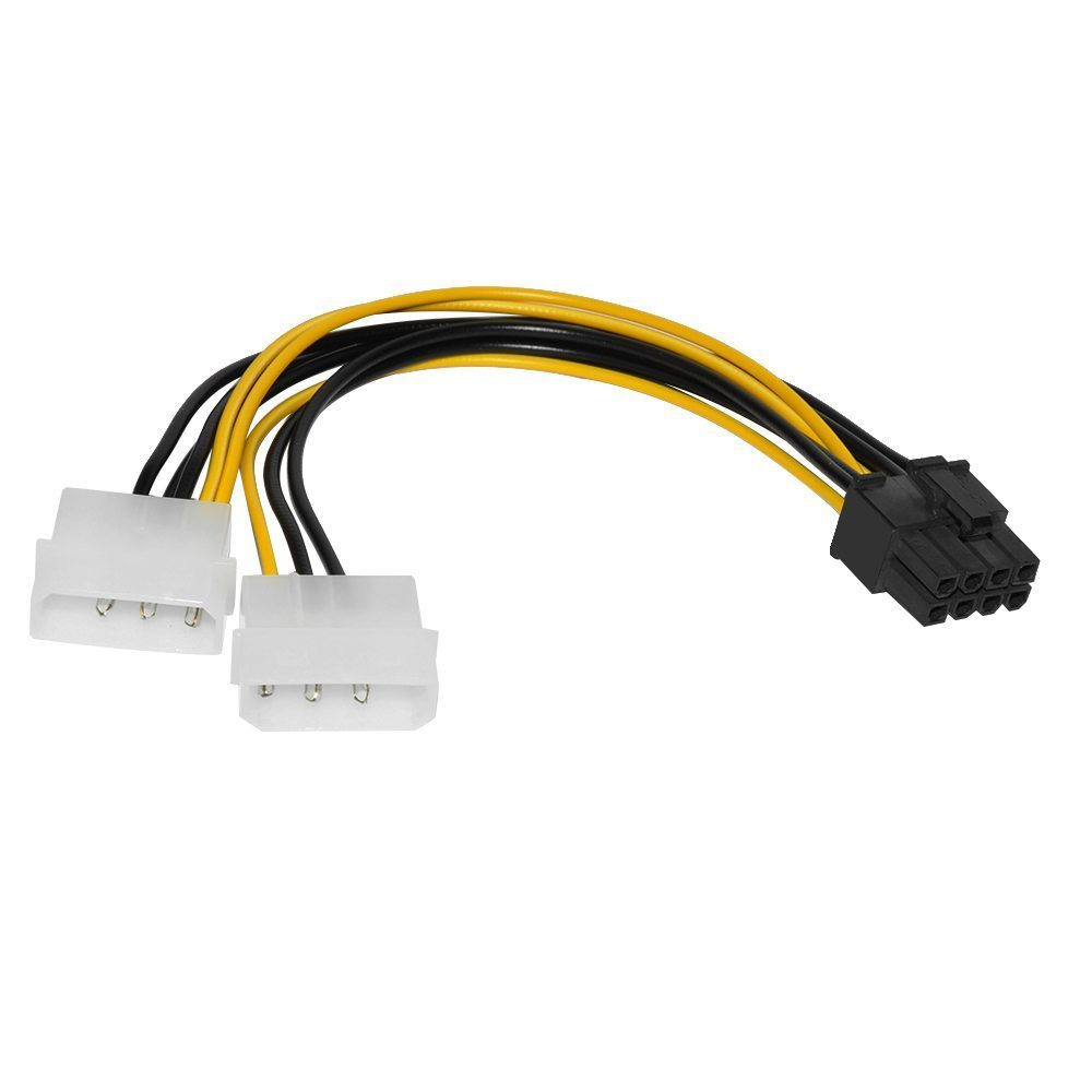 Makki Адаптер Adapter 2xMolex to 8pin PCI-E VGA - MAKKI-CE317-0.15m