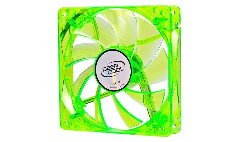 Вентилатор Fan 120mm Green LED Xfan 120U G/B - 1300rpm