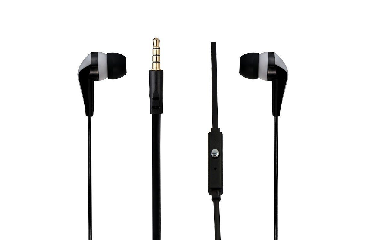 Walk the Talk- In-earphones with mic Black & silver AM1101/BKG