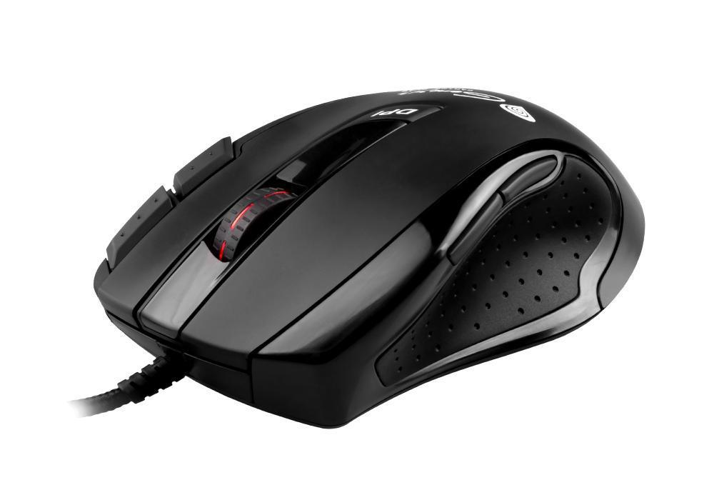Геймърска мишка Gaming Mouse GX68 Laser Black 3400dpi USB