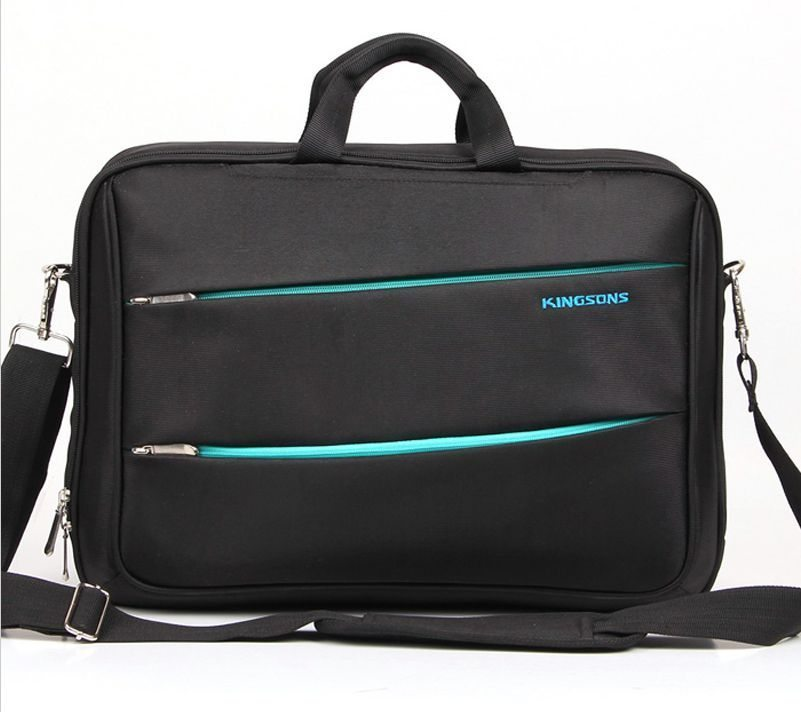 "Laptop Bag 15.6"" K8377W :: Zipped Series - Black"