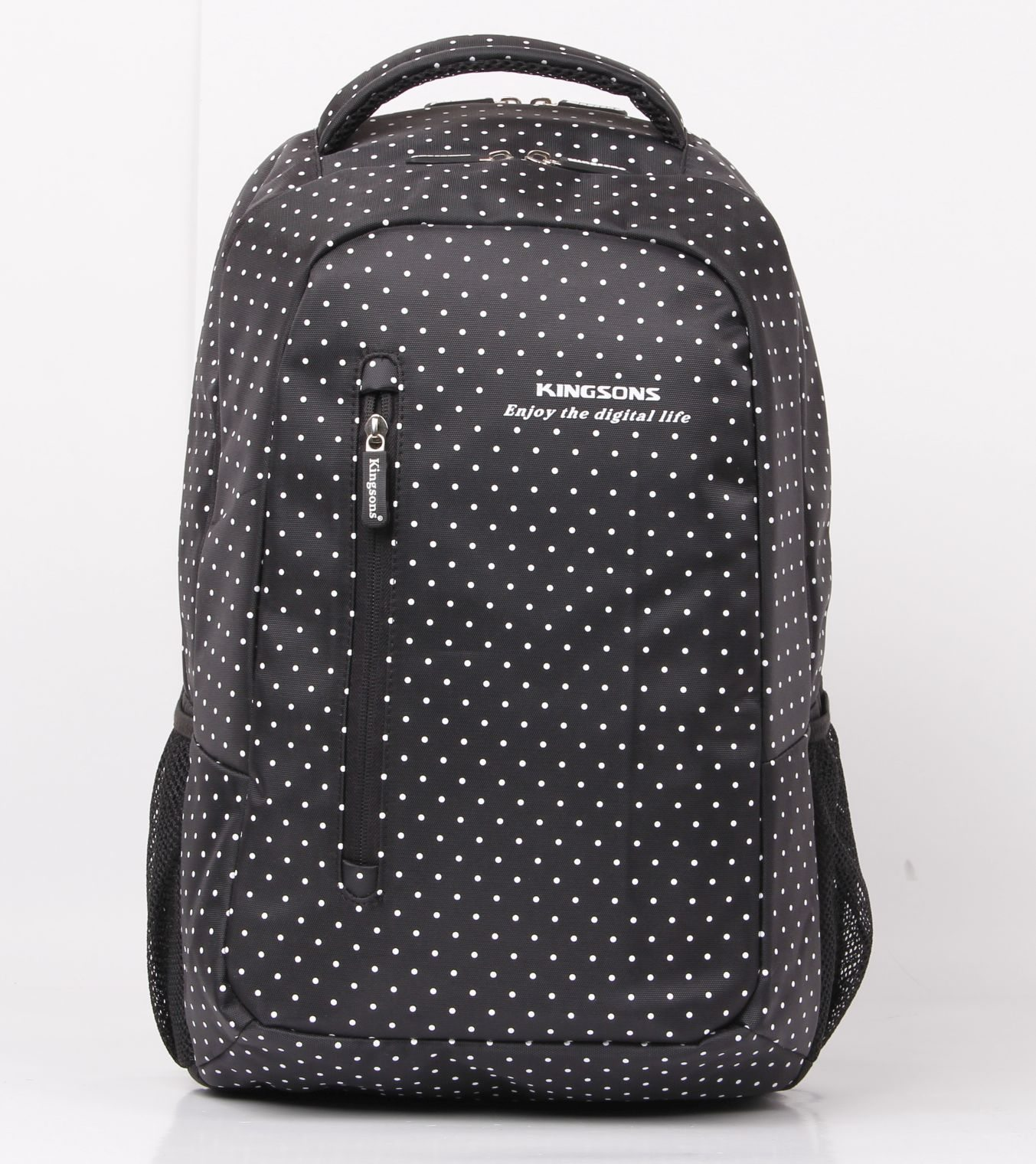 "Laptop Backpack 14.5"" KS3010W :: Hot Dot Series - White Dot"