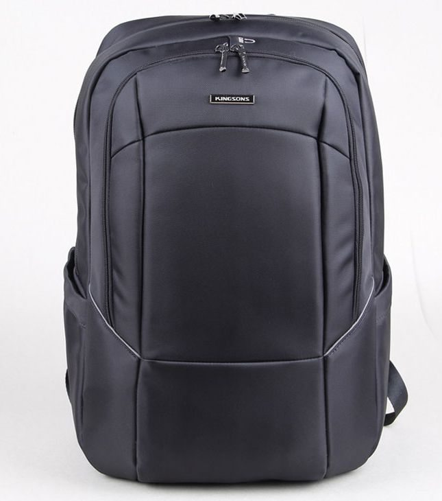 "Kingsons Laptop Backpack 15.6"" KS3077W-A :: Prime Series - Black"