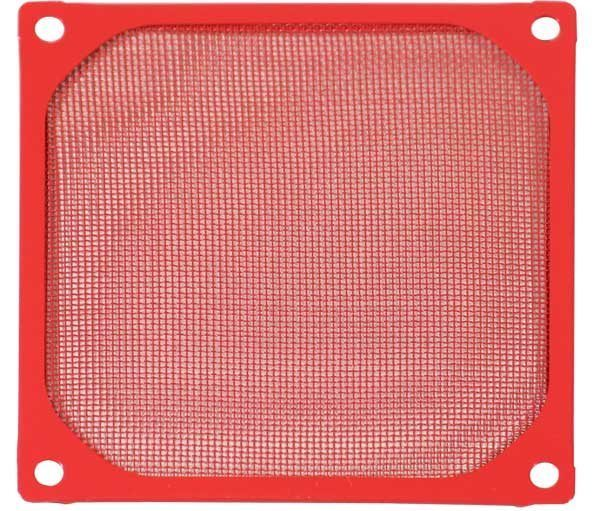 Evercool Fan Filter Metal Red - 92mm
