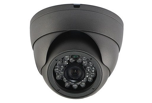 IP HD Metal Dome Camera - 1/2.9 Sony Low illumination 2.4MP/1080P/3.6mm F2.0/IR 20m/PoE/Black - LIRDBS200-POE