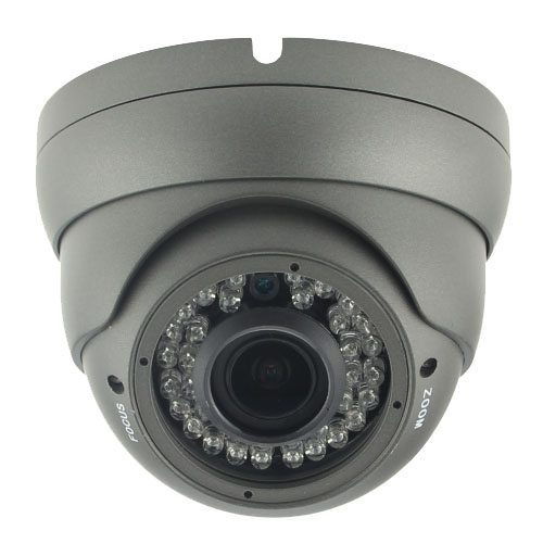 IP HD Metal Dome Camera - 1/2.9 Sony Low illumination 2.4MP/1080P/2.8-12mm F2.0/IR 30m/PoE/Black - LIRDCS200-POE
