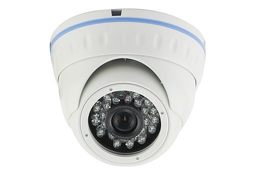 IP HD Outdoor Metal Dome Camera - 1/2.9 Sony Low illumination 2.4MP/1080P/3.6mm F2.0/IR 20m/PoE/White - LIRDNS200-POE