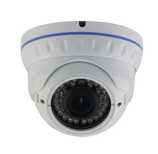 AHD Metal Dome Camera - 1/2.9 Sony 2.4MP/1080P/2.8-12mm F2.0/IR 30M/White - LIRDNTAD200S