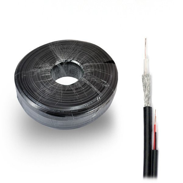 Коаксиален кабел Coaxial cable RG59+2C power 2x18AWG(2x0.82)-100m
