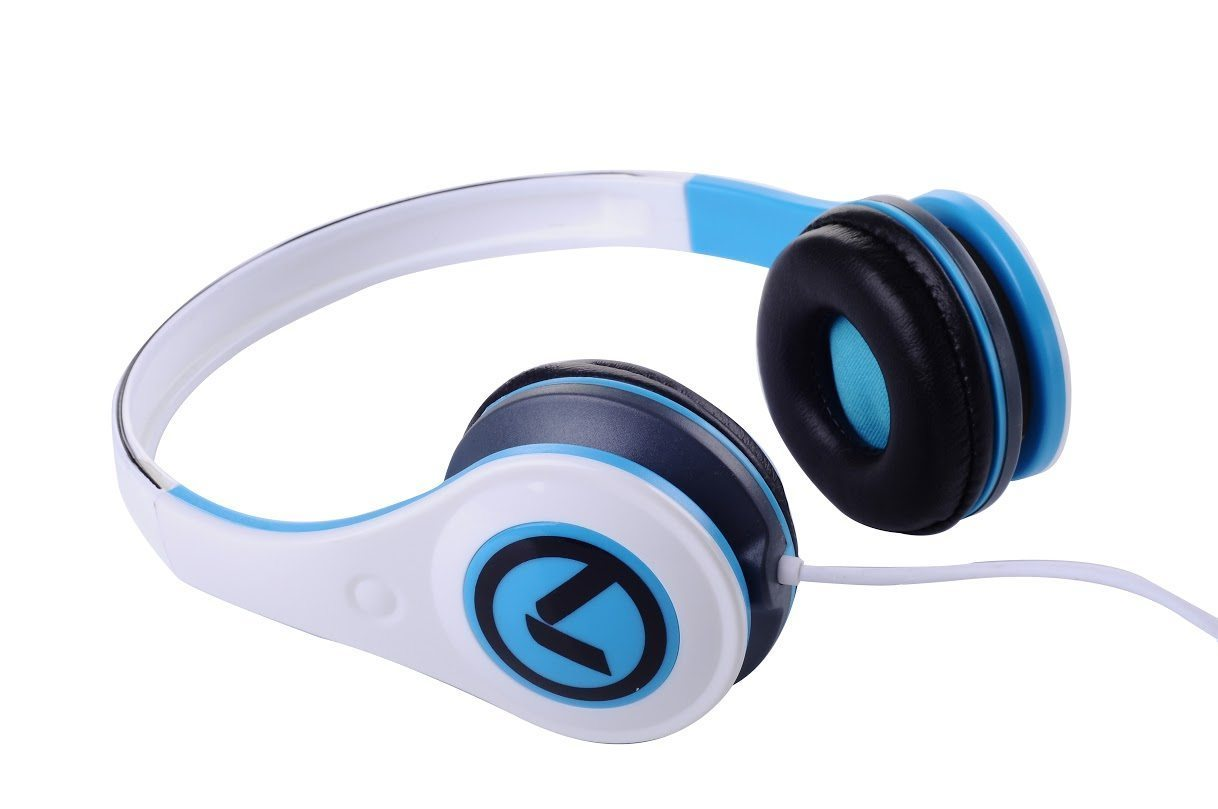 Слушалки Freestylers - Headphones (White & blue) AM2002/WB