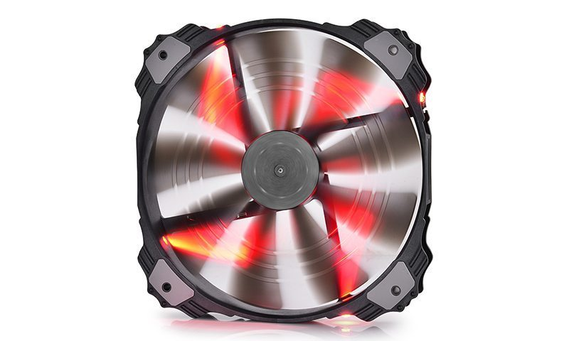 Fan 200mm Red LED - XFAN 200RD