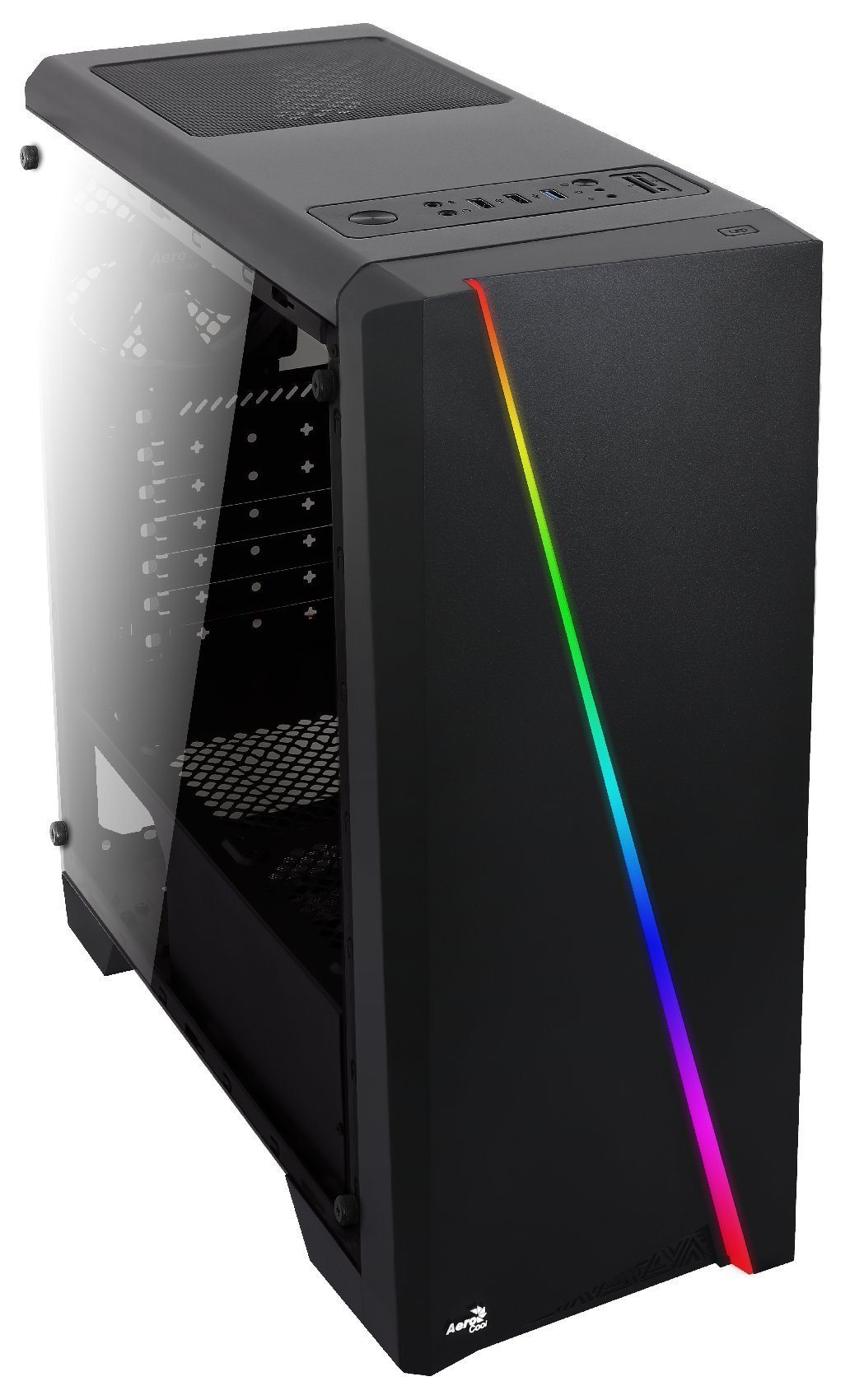AeroCool кутия Case ATX - Cylon BG - RGB, Tempered glass - ACCM-PV10013.11