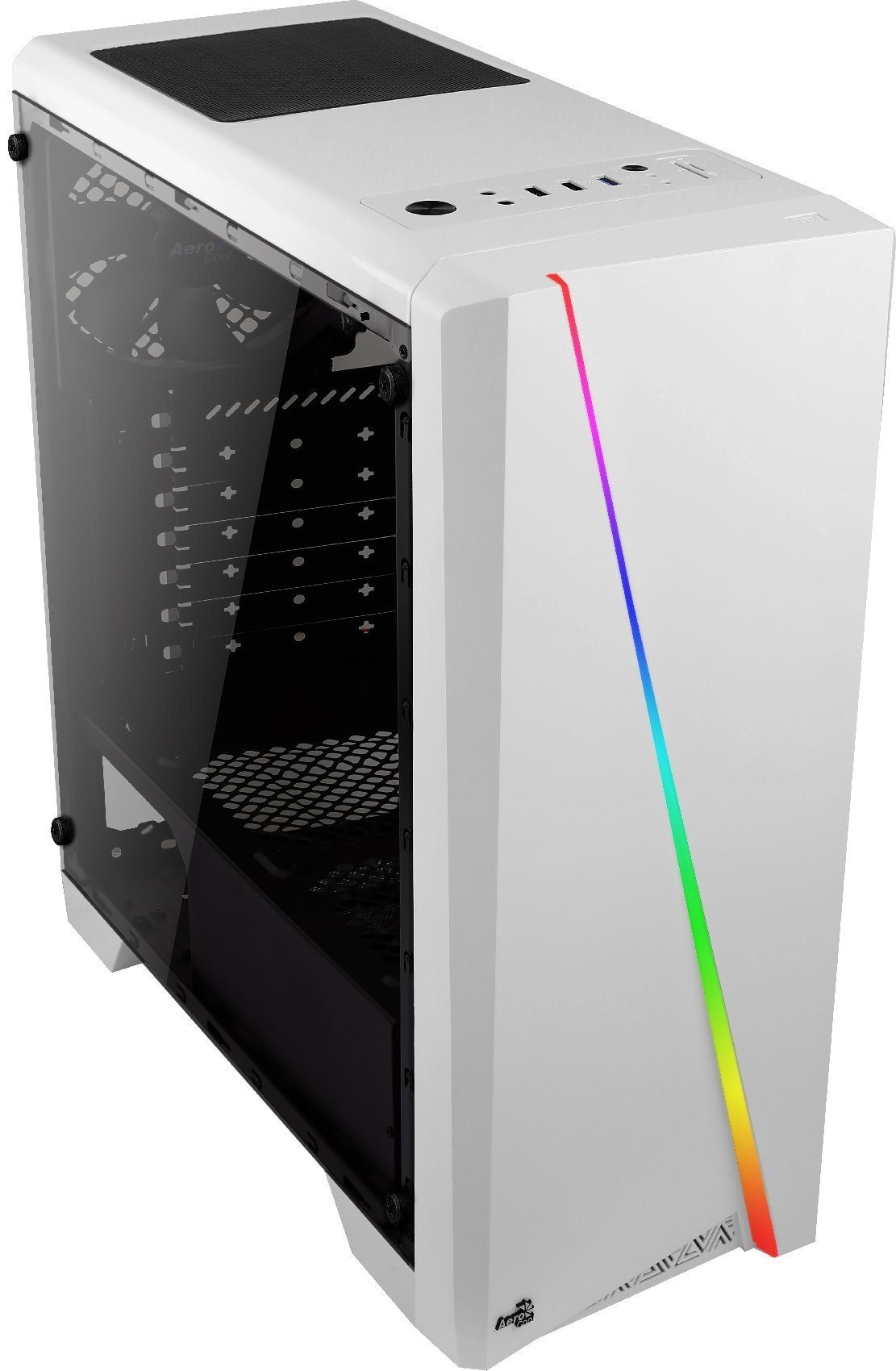 AeroCool кутия Case ATX - Cylon WG White - RGB, Tempered glass - ACCM-PV10013.21
