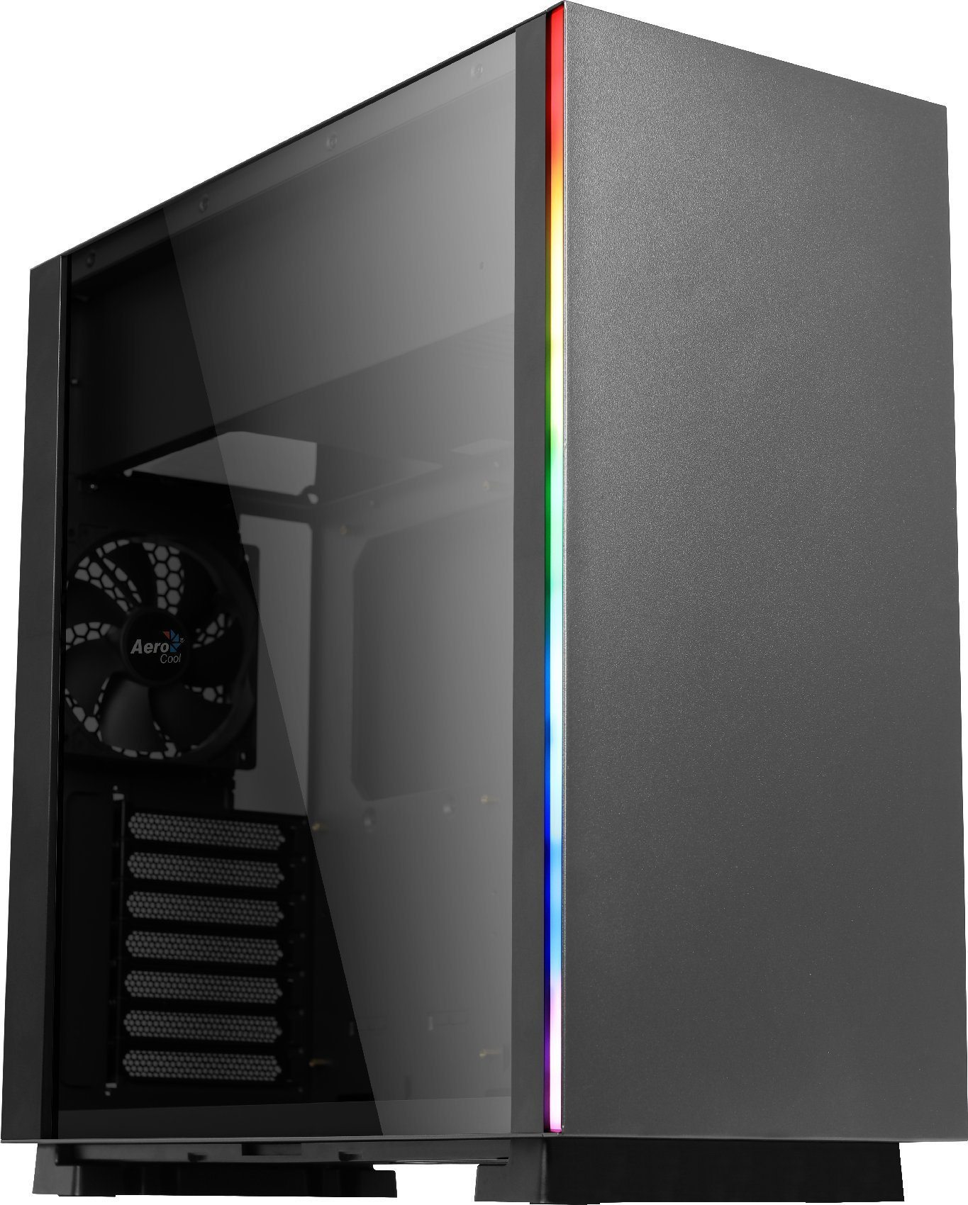 AeroCool кутия Case ATX - GLO Black - RGB, Tempered glass - ACCM-PB08013.11