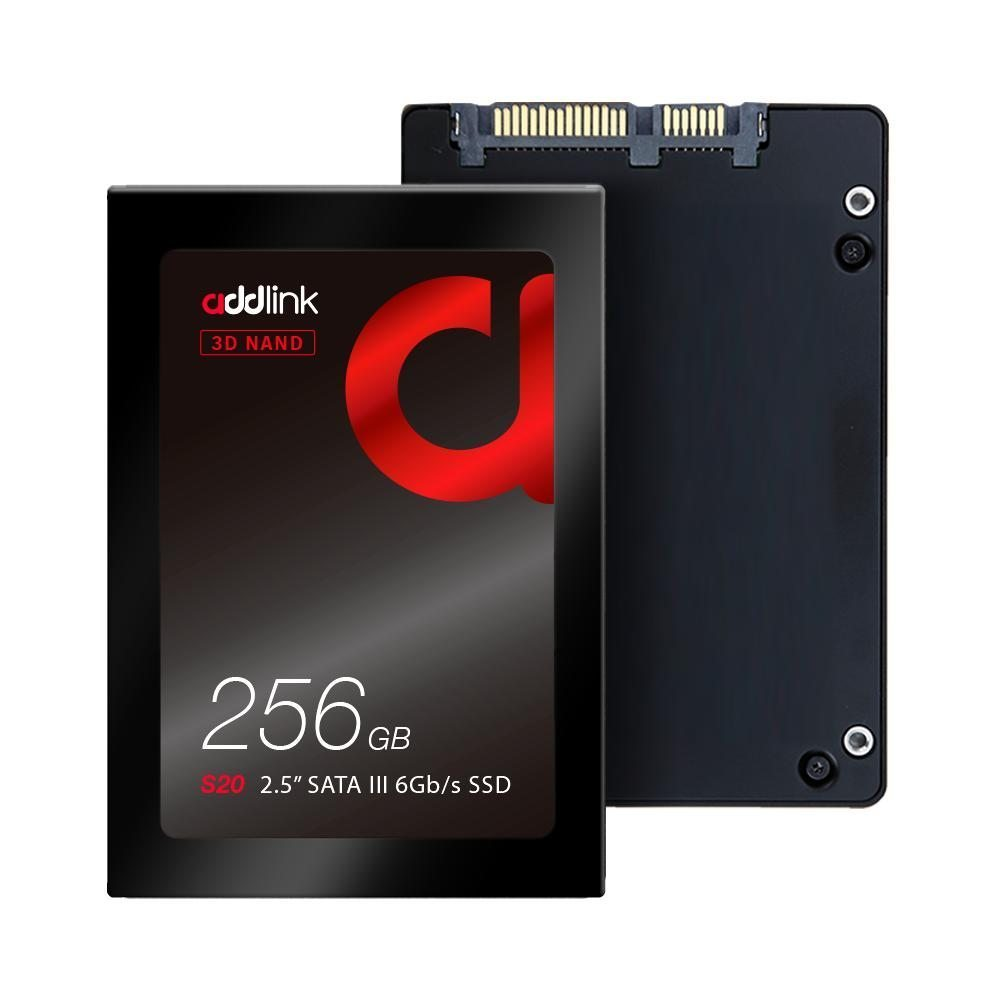 Addlink диск SSD S20 256GB - SATA3 3D Nand 510/400 MB/s - ad256GBS20S3S