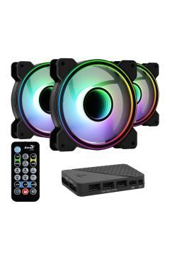 комплект вентилатори Fan Pack 3-in-1 3x120mm - Mirage 12 Pro - Addressable RGB with Hub, Remote - ACF3-MR10227.11