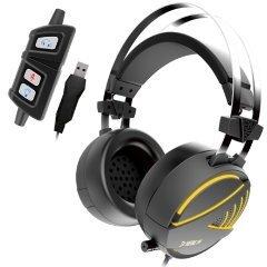 геймърски слушалки Gaming Heaphones - HEBE M1 RGB Virtual 7.1 / Vibration