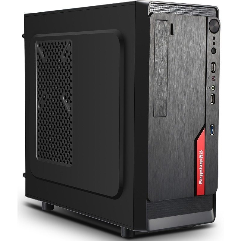 Segotep Case mATX AND Mini Black-Red + 350w