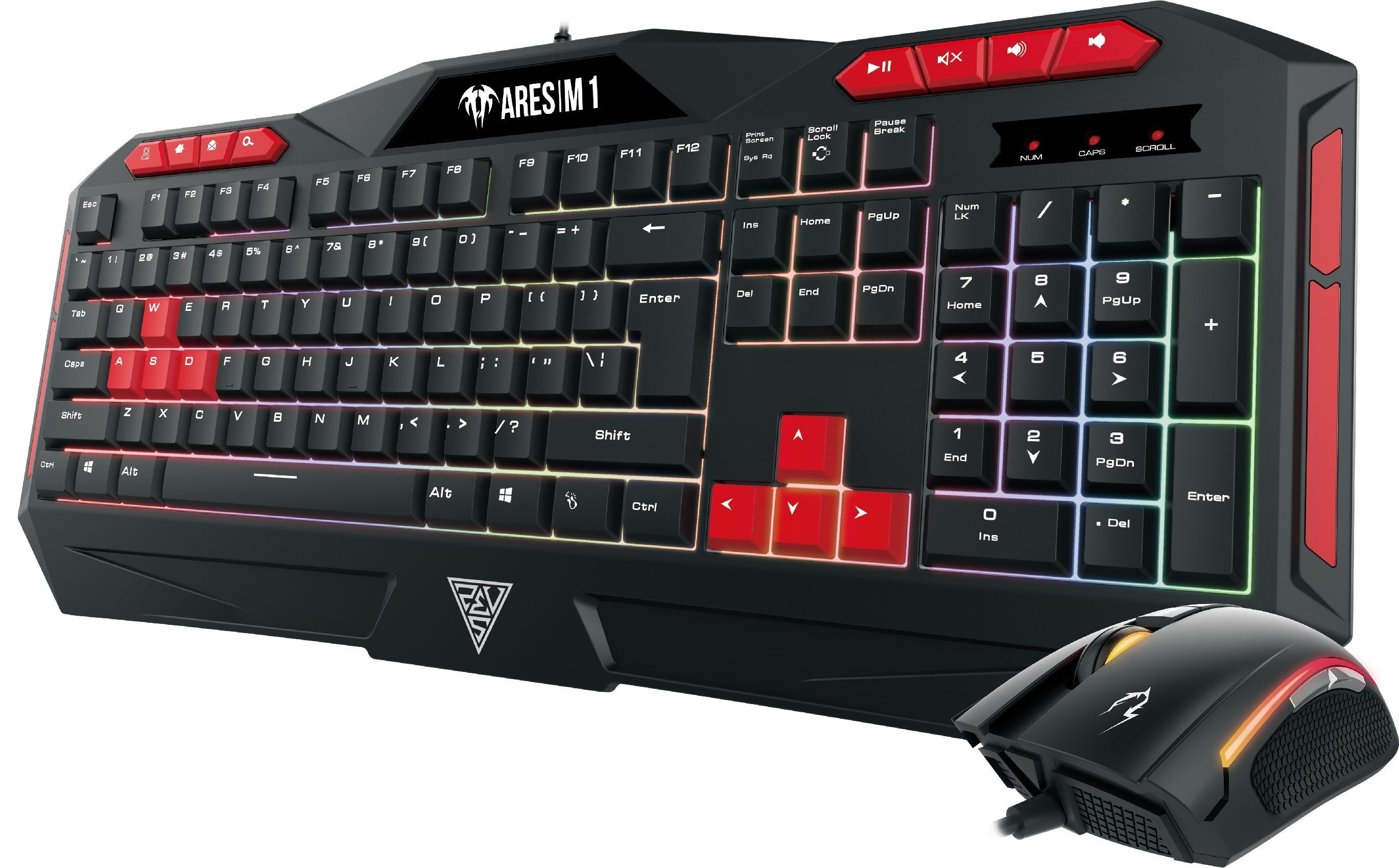 геймърски комплект Gaming COMBO - ARES M1 + ZEUS E2 - Keyboard + Mouse