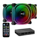 комплект вентилатори Fan Pack 3-in-1 3x120mm - ASTRO 12 Pro - Addressable RGB with Hub, Remote - ACF3-AT10217.02
