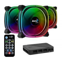 Fan Pack 3-in-1 3x120mm - ASTRO 12 Pro - Addressable RGB with Hub, Remote - ACF3-AT10217.02