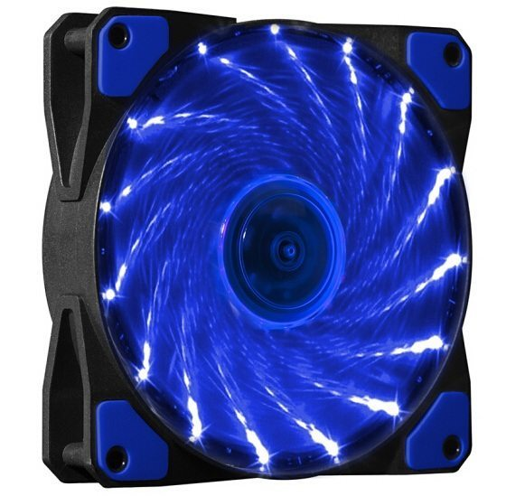 Fan 120mm - 15 BLUE LED lights - MAKKI-FAN120-15BL